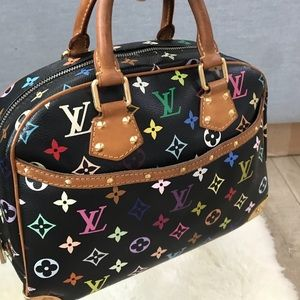 Multicolor monogram louis vuitton satchel